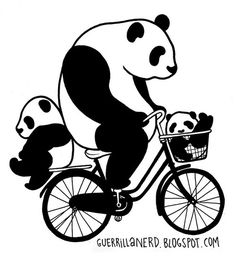 Image about black and white in Panda🐼 by Cinthiya Priskilla Panda Bebe, Cute Panda, Red Panda, Panda Family, Panda Images, Animal Stencil, Panda Wallpapers, Panda Party, Outline Drawings
