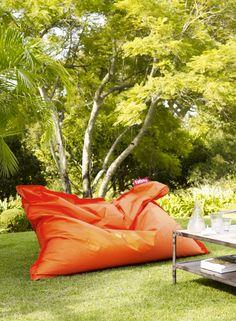 Outdoor   Lounging   Oversized beanbag   Burnt orange   Modern   Livingetc