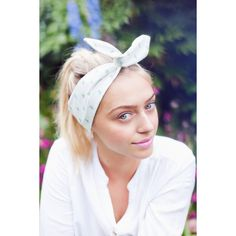 Sweet Floral Wire Headband, Floral Dolly Bow, Pin up Rockabilly Hair... ($11) ❤ liked on Polyvore featuring accessories, hair accessories, polka dot bow headband, polka dot headband, hair bow accessories, hair band headband and bow headwrap