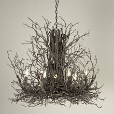 Naturally Superior Twig Chandelier - Large
