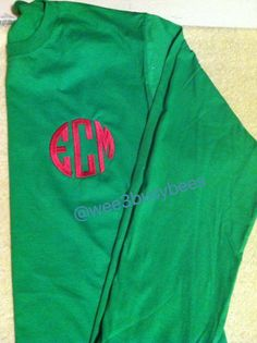 Monogrammed long sleeve t's for children and adults!  @wee3busybees