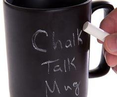 Chalk Talk Chalkboard Coffee Mug. spenditonthis.com