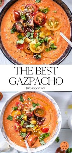 Clean Eating Recipes, Raw Food Recipes, Cooking Recipes, Healthy Delicious Recipes, Summer Soup Recipes, Dinner Recipes, Summer Vegetarian Recipes, Healthy Soup, Healthy Gazpacho Recipe
