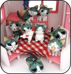Chi's sweet home, Chii's Sweet Home, Chi, Chi's Sweet Home, Chii, cat, Chi une vie de chat, figurines