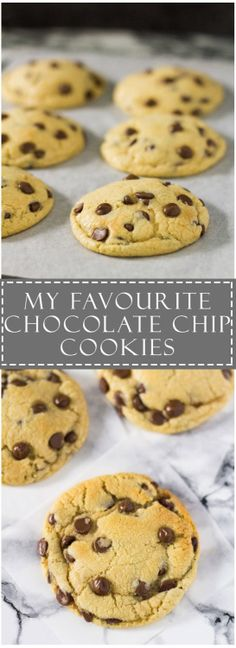 My Favourite Chocolate Chip Cookies Recipe source: Marshas  Mein Blog: Alles rund um Genuss & Geschmack  Kochen Backen Braten Vorspeisen Mains & Desserts!