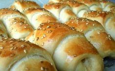 Braided Nutella Bread, Kiflice Recipe, Homemade Sour Cream, Slovak Recipes, Bread Dough Recipe, Macedonian Food, Kolaci I Torte, Salty Snacks, Bread And Pastries