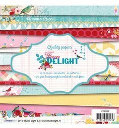 Studio Light - Flower Delight - Paperpad 15 x 15 cm - PPFD22