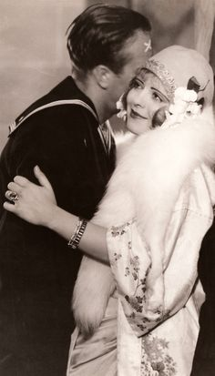 """Clara Bow with a saior in """"The Fleet's In"""" 1928 ~"""