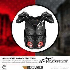 Alpinestars A-8 Body Protector, gelişmiş dizaynı ve yüksek teknoloji ürünü materyalleriyle yüksek güvenlik vaat eder.