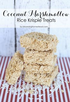 Coconut rice crispie treats - how are we just now hearing about this!?!? #GoodEats