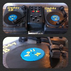 Turntables cake