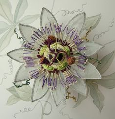 Exotic Flora in Raised Embroidery (Stumpwork) (Code 1496) class at the Royal School of Needlework