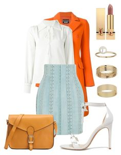 """Untitled #5283"" by dede ❤ liked on Polyvore featuring Boutique Moschino, See by Chloé, Balmain, Alexandre Birman, Miss Selfridge and Yves Saint Laurent"
