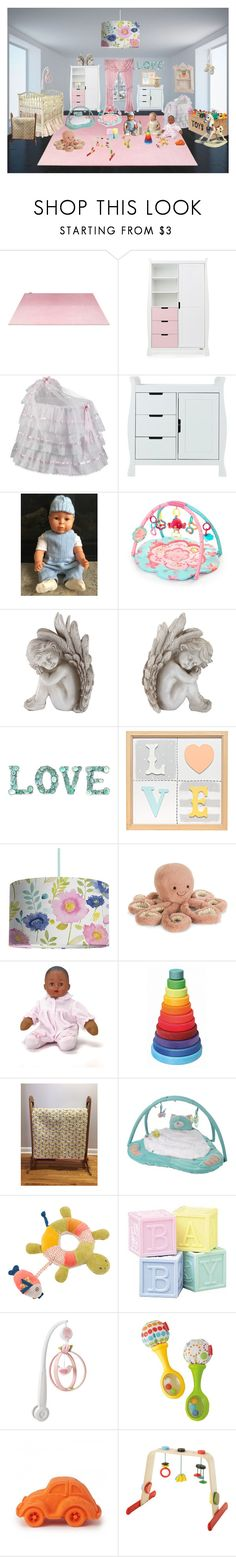 """""""Baby Girl Quilt, Sweet Daisy Girl, Going Home Gift, 38.5"""" x 40"""", Baby Bedding, New Baby Gift, Christening, Baptism gift, Baby Shower, Cuddly"""" by bamasbabes ❤ liked on Polyvore featuring Matta, Zone, Universal Lighting and Decor, DK, Bluebellgray, Jellycat, Madame Alexander, Moulin Roty, Wilton and Mamas & Papas"""