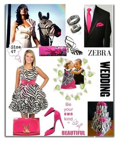 """""""Zebra White Black Stripes Contest"""" by belladonnasjoy ❤ liked on Polyvore featuring Pierre Hardy, WALL and Louis Vuitton"""