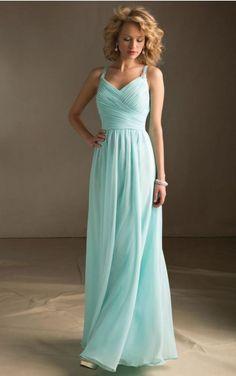 Chiffon Halter Natural A-line Floor-length Bridesmaid Dresses 0740572
