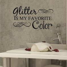 Nail Salon Art Spa Art Glitter Is My Favorite by VinylWritten