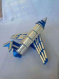 """Подарки для мужчин, ручной работы. Заказать Букет из конфет """" Самолёт""""(2)…"""