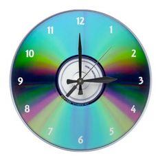 CD Wall Clock by elenaind