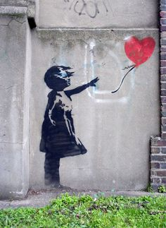 BANKSY. Watch the documentary...exit through the gift shop. Best tagger around