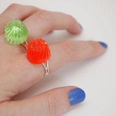 Vintage Inspired Clear Jelly Adjustable Rings by JayneKitsch