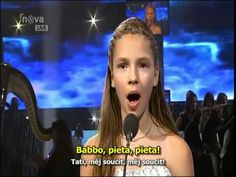 Patrícia Janečková age 12 sings {TIME TO SAY GOODBYE} - YouTube