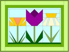 flower+quilt+blocks   paper pieced quilt block pattern daffodil paper pieced quilt block ...