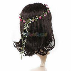 Boho Lady Floral Flower Festival Wedding Garland Forehead Hair Head Band BF4U   eBay. On eBay for ONLY $1.14 + FREE S&H!
