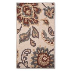 Maples Rugs Paisley Floral Accent Rug - Tan