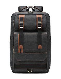 cbeecff50d BEFAiR Canvas Backpack College Vintage Weekender Backpack Black Girl  Backpacks