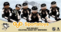 Pittsburgh Penguins LEGO figures. For my baby boy who loves hockey and the Penquins