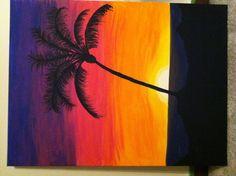 Sunset & palm tree