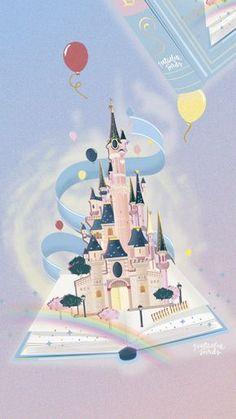 Illustration chateau Disneyland Paris. – Natacha Birds – Portfolio
