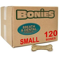 BONIES Natural Dental Health BULK BOX SMALL 120 Bones -- You can get more details by clicking on the image. (This is an affiliate link) #doghealthsupplies