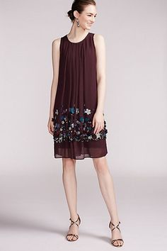 Brenta Swing Dress #anthropologie - Not sure about the flowers, but really like the shape of the dress.