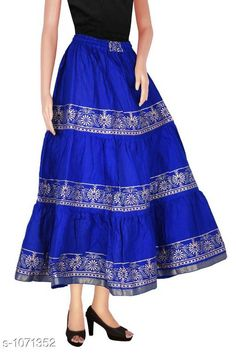 Checkout this latest Skirts Product Name: *Fancy Cotton Long Skirt* Sizes:  34, 36, 38, 40, 42, 44, Free Size Country of Origin: India Easy Returns Available In Case Of Any Issue   Catalog Rating: ★4.1 (517)  Catalog Name: Ladies Fancy Cotton Printed Long Skirts Vol 3 CatalogID_131103 C74-SC1013 Code: 223-1071352-477