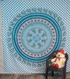 WALL DECOR HIPPIE TAPESTRIES BOHEMIAN MANDALA TAPESTRY WALL HANGING INDIAN THROW #Handmade