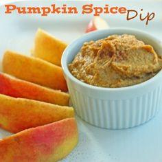 Pumpkin Spice Dip -  garbanzo bean hummus base with pumpkin puree, sweetener & spices.