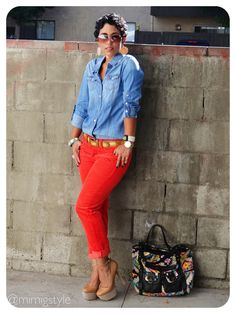 OOTD: Gap Sexy Cords Forever 21 Denim Shirt details @ www.mimigstyle.coml #GAP…