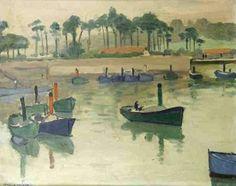 Albert Marquet - Bateaux dans le port de Saint-Jean de Luz