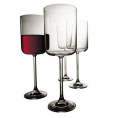 """Indulge in sleek, delicious style with the Cosmopolitan Wine Glass from Artland. Perfect for red and white wines, these elegant glasses shimmer in the candlelight, adding a warm ambiance to your romantic evening.Set Includes: 4 Wine glasses with gift boxMaterial: Glass Color: Clear  Size: 8"""" H x 3.5"""" DiameterCapacity: 11 oz."""