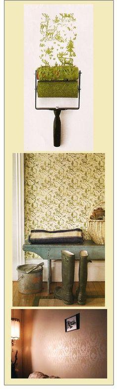 "Rollerwall: The Not So Permanent ""Wallpaper""... http://rollerwall.com/"