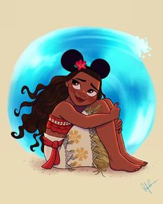 Here is the newest entry to my Mickey Ears series! MANA what are some other characters you want to see?! #moana #disneyworld #disneyland #fanart #disneyfanart #disneyart #disneyartshare