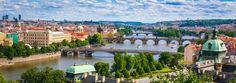 Charles Bridge and the Vltava River in Prague, Bohemia, Czech Republic