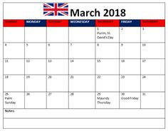 Calendar Of March  Printable Template Images Pdf Desk