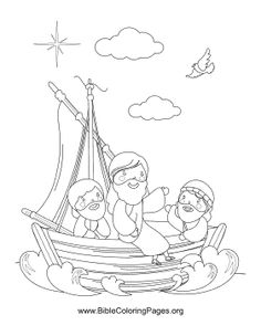 This Bible coloring page reflects the story of Jesus