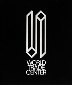 World Trade Center logo, Herb Lubalin.