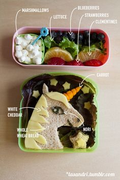 Unicorns and rainbows for school lunches