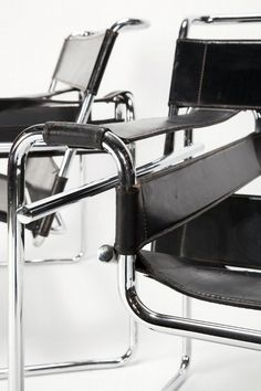 Marcel Breuer, model B3-chair (also known as the Wassily-chair), designed in 1925-1926 and manufactured by Thonet, Germany.