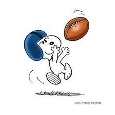 Snoopy, football